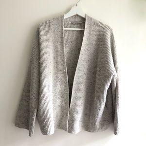 Everlane Sweaters The Twisted Merino Cardigan Grey Size L Poshmark